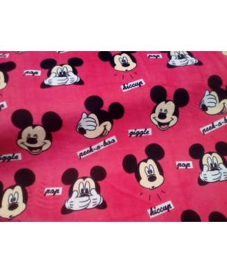 Minki mickey mouse 100% poliester 1.50 de ancho
