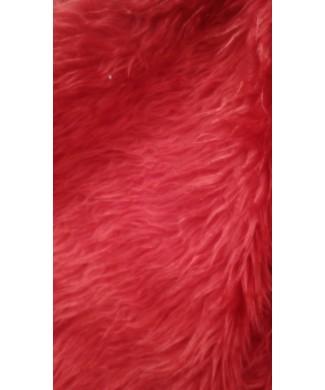 Pelo largo 100% poliester 1.50 de ancho rojo