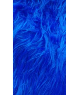 Pelo largo 100% poliester 1.50 de ancho azulon