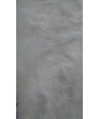 Pelo largo 100% poliester 1.50 de ancho blanco