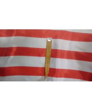 Raso rayas rojo y blanco 1.50 de ancho 100% poliester