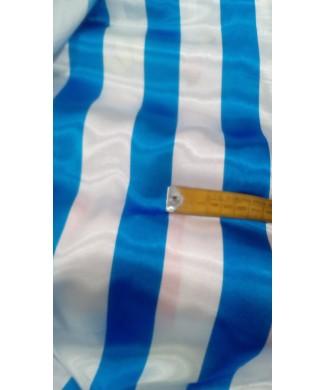 Raso rayas azul y blanco 1.50 de ancho 100% poliester