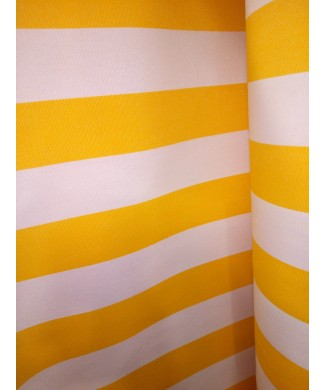 Lona 100% acrílica raya amarilla y blanca 3.20 de ancho