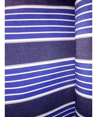 Lona 100% acrílica rayas azules 3.20 de ancho