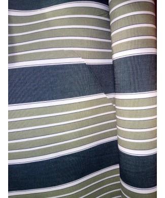 Lona 100% acrílica rayas verdes 3.20 de ancho