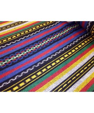 Alpujarra rayas azules, amarillo, rojo, verde 1.50 de ancho