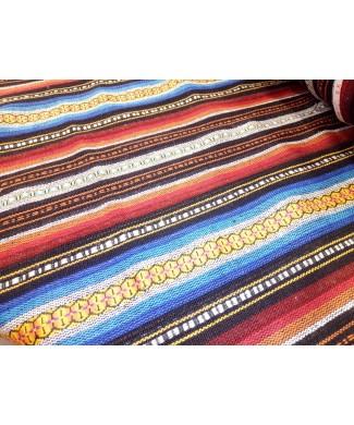 Alpujarra rayas rojas, narajas, azules en 1.50 de ancho