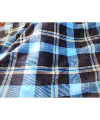 Coralina 100% poliester cuadro escoces azul 1.50 de ancho