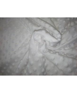 Minky blanco burbujas 100% poliester 1,50 ancho