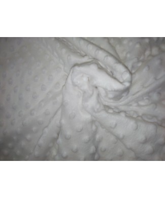 Minky blanco burbujas 1,50 ancho