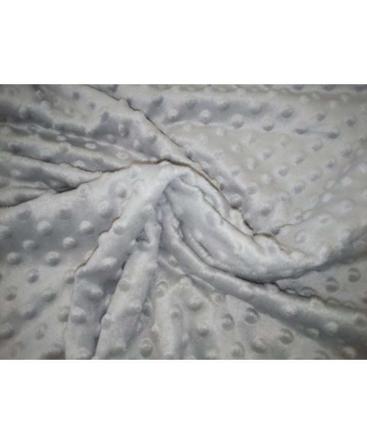 Minky gris burbujas 100% poliester 1,50 ancho