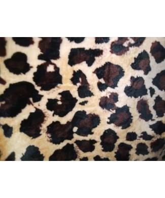 Coralina 100% poliester leopardo 1.50 de ancho