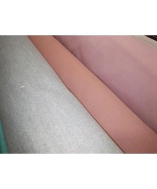 Paño rosa empolvado 90% tes 8% rayon 2% spandex  1.50 de ancho