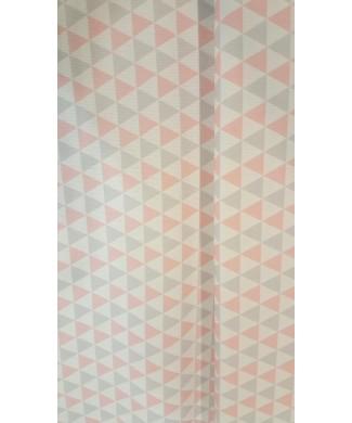 Pique canutillo 1.50 de ancho rombos celeste 65% poliester 35% algodon