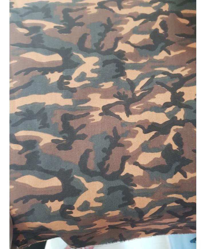 Algodon 100% camuflaje tonos marrones 1.50m ancho
