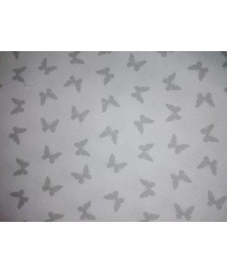 Pique 100% algodón mariposa gris fondo blanco 1 50m ancho