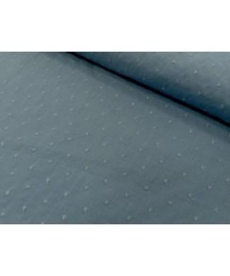 Plumeti azul añil 1.50 ancho 65% poliester 35% algodon