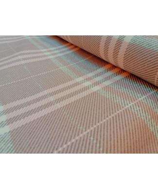 Cuadro rosa y gris 50% acrilico 20% algodon 15% poliester 15% lana 1.50 de ancho