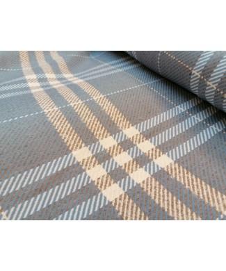 Cuadro azul y gris 50% acrilico 20% algodon 15% poliester 15% lana 1.50 de ancho