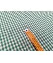 Vichi verde 70% poliester 30% algodon 1,60m ancho cuadro 0,5 cm