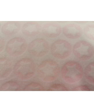 Coralina 100% poliester brocada estrellas rosa bebe 1.50 de ancho