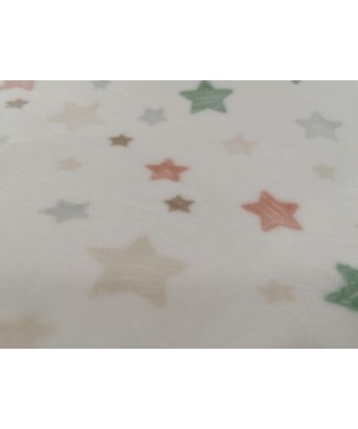 Coralina 100% poliester estrellas 1.50 ancho