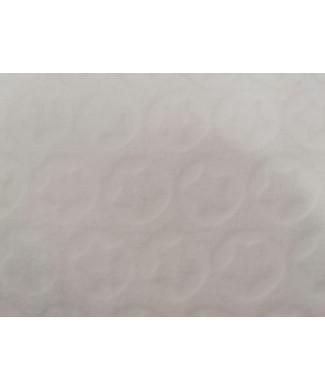Coralina 100% poliester brocada estrellas blanca 1.50 de ancho