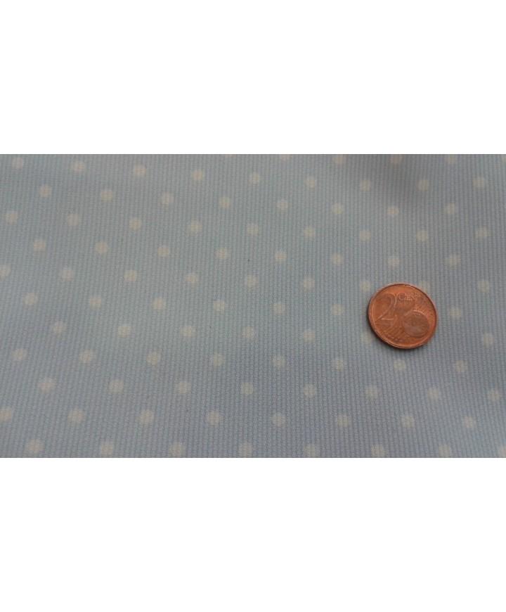 Pique estampado lunar blanco pequeño