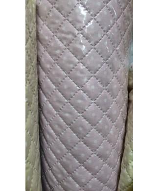 Pique plastificado rosa 1.50 ancho