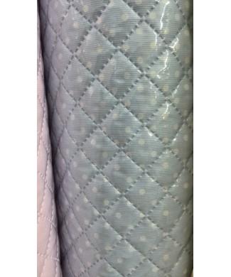 Pique plastificado fondo celeste lunar blanco 1.50 ancho