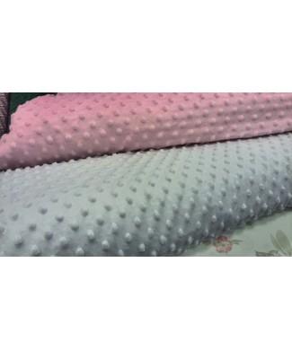 Minky rosa burbujas 1,50 ancho