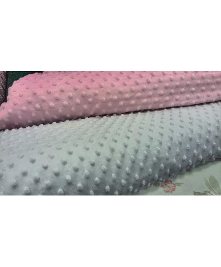 Minky rosa burbujas 100% poliester 1,50 ancho